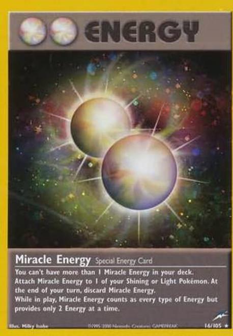Pokemon Neo Destiny Rare Holo Miracle Energy #16
