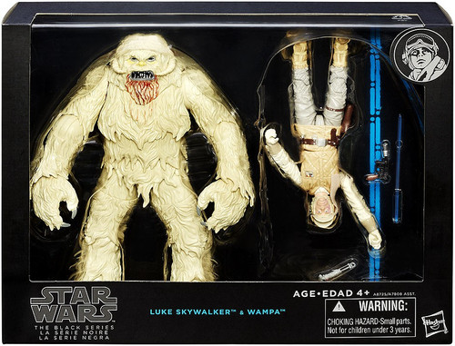 Star Wars Black Series 6-Inch Deluxe Luke Skywalker & Wampa Action Figure Set