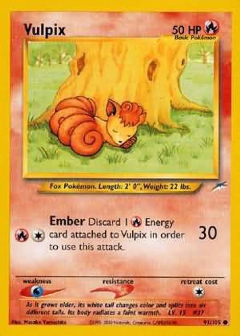 Pokemon Neo Destiny Common Vulpix #91
