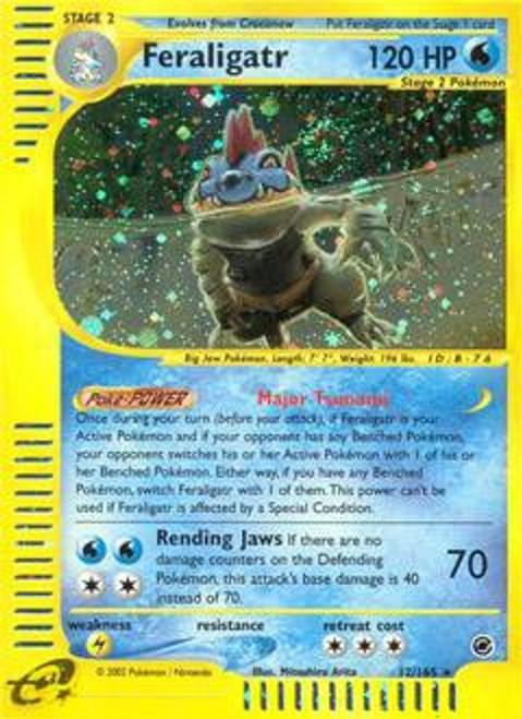 Pokemon Expedition Base Set Rare Holo Feraligatr #12