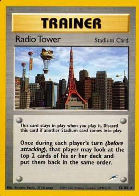 Pokemon Neo Destiny Rare Radio Tower #95
