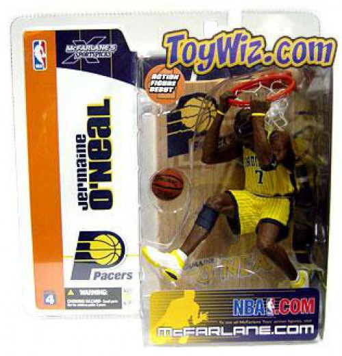 McFarlane Toys NBA Indiana Pacers Sports Picks Series 4 Jermaine O'Neal Action Figure [Yellow Jersey]