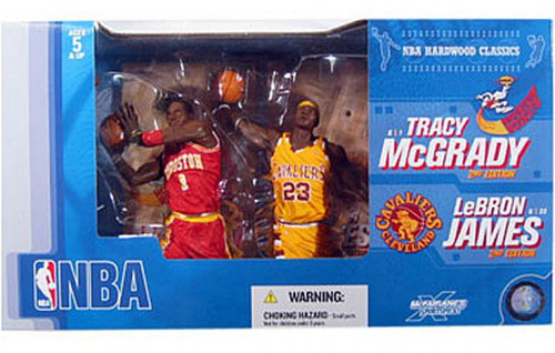 McFarlane Toys NBA Houston Rockets / Cleveland Cavaliers Sports Picks Tracy McGrady & LeBron James Action Figure 2-Pack