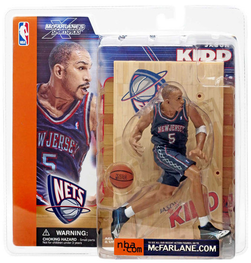 McFarlane Toys NBA New Jersey Nets Sports Picks Series 1 Jason Kidd Action Figure [Blue Jersey]