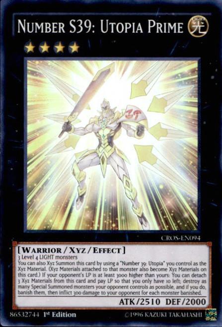 YuGiOh Crossed Souls Super Rare Number S39: Utopia Prime CROS-EN094
