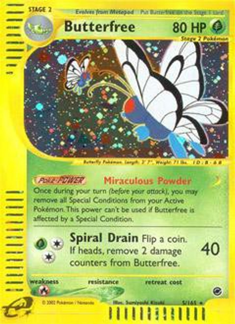 Pokemon Expedition Base Set Rare Holo Butterfree #5