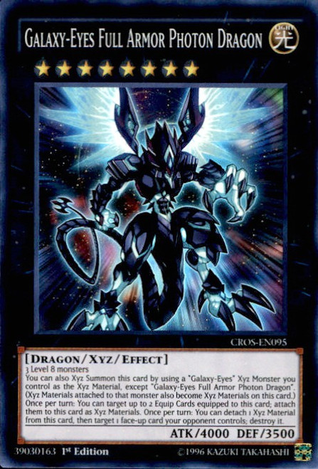 YuGiOh Crossed Souls Super Rare Galaxy-Eyes Full Armor Photon Dragon CROS-EN095