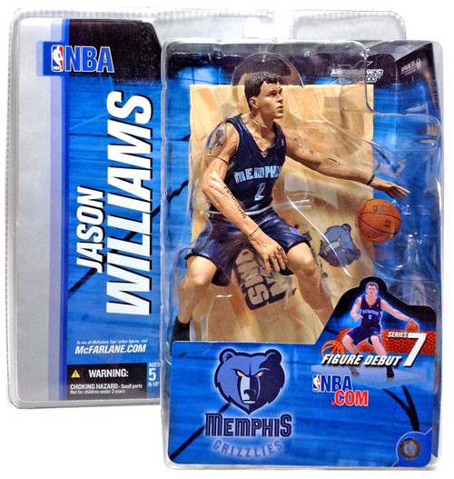 McFarlane Toys NBA Memphis Grizzlies Sports Picks Series 7 Jason Williams Action Figure [Blue Jersey]