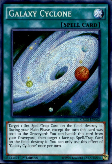 YuGiOh Crossed Souls Secret Rare Galaxy Cyclone CROS-EN062