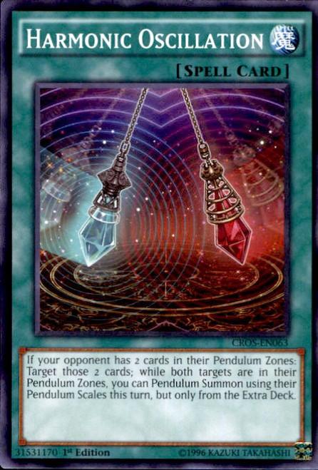 YuGiOh Crossed Souls Common Harmonic Oscillation CROS-EN063