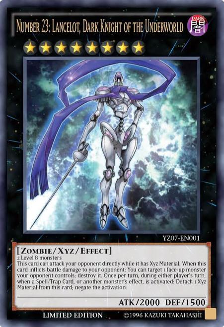 YuGiOh Shonen Jump Ultra Rare Number 23: Lancelot, Dark Knight of the Underworld YZ07-EN001