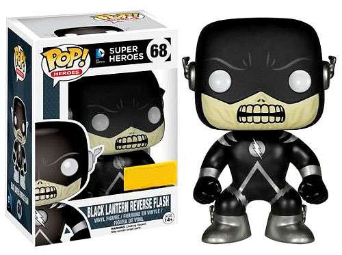 Funko DC Universe POP! Heroes Black Lantern Reverse Flash Exclusive Vinyl Figure #68