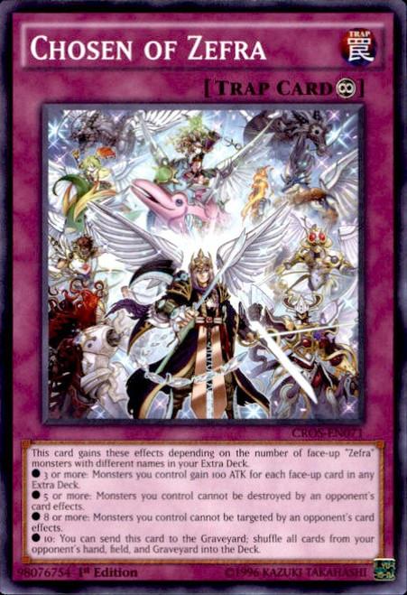 YuGiOh Crossed Souls Common Chosen of Zefra CROS-EN071