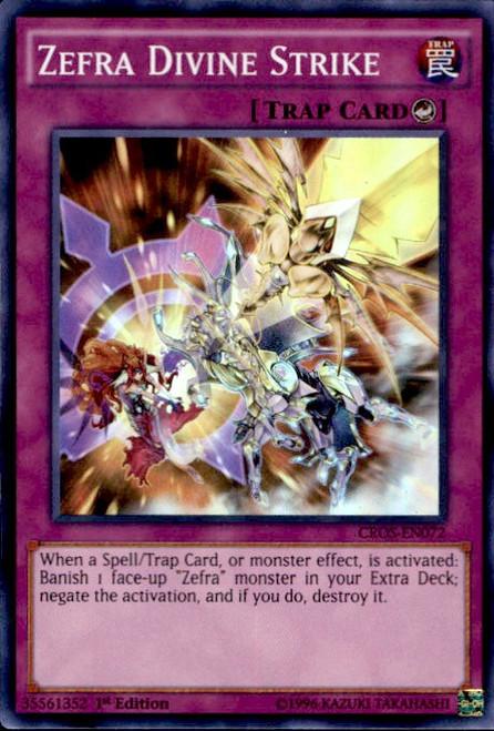 YuGiOh Crossed Souls Super Rare Zefra Divine Strike CROS-EN072