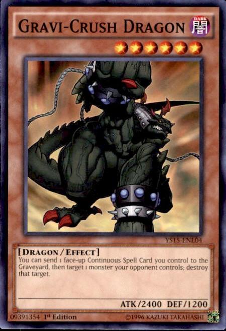 YuGiOh 2015 Starter Deck Dark Legion Common Gravi-Crush Dragon YS15-ENL04