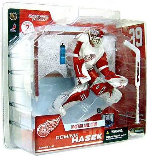 McFarlane Toys NHL Detroit Red Wings Sports Picks Series 7 Dominik Hasek Action Figure [White Jersey Variant]