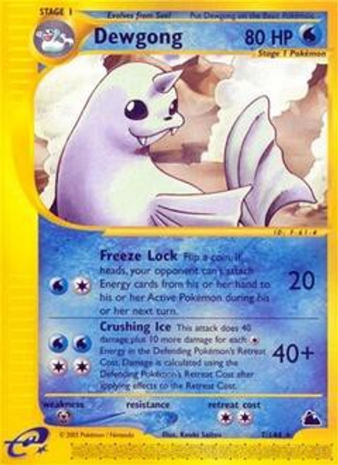 Pokemon Skyridge Rare Dewgong #7
