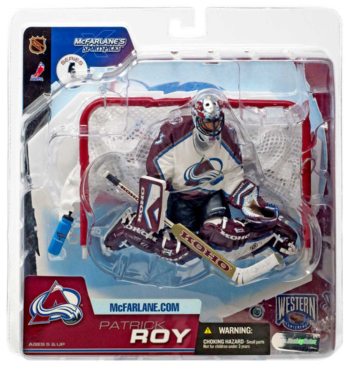 McFarlane Toys NHL Colorado Avalanche Sports Picks Series 6 Patrick Roy Action Figure [White Jersey]