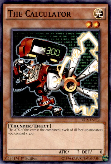 YuGiOh 2015 Starter Deck Saber Force Common The Calculator YS15-ENF12