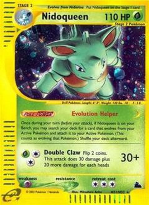 Pokemon Skyridge Rare Holo Nidoqueen H21