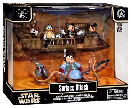 Disney Star Wars Mickey Mouse Sarlacc Attack Figure Set