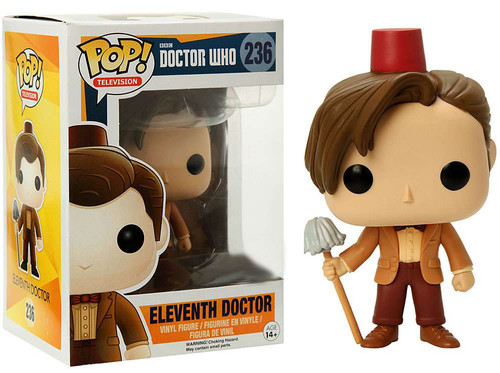 Funko Doctor Who POP! TV Eleventh Doctor Exclusive Vinyl Figure #236 [Red Fez Hat & Mop]