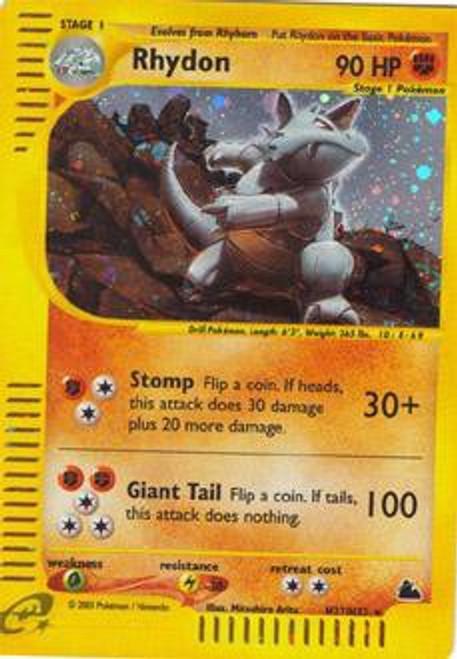 Pokemon Skyridge Rare Holo Rhydon H27