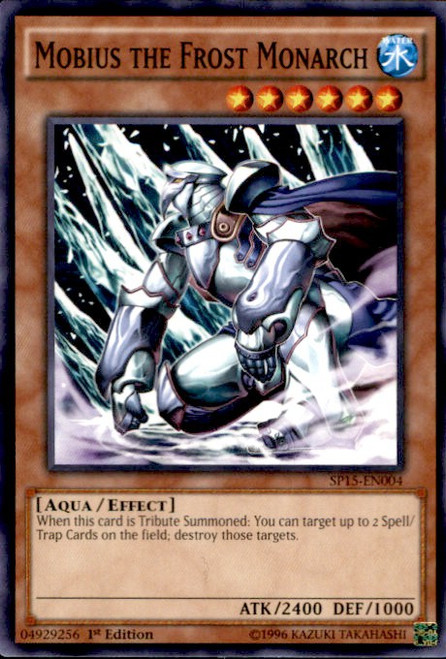 YuGiOh 2015 Star Pack ARC-V Common Mobius the Frost Monarch SP15-EN004