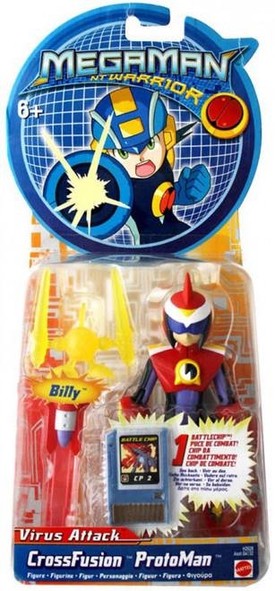 Mega Man NT Warrior Virus Attack Protoman Action Figure [CrossFusion]