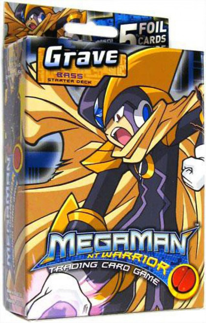 MegaMan NT Warrior Trading Card Game Grave Bass Starter Deck
