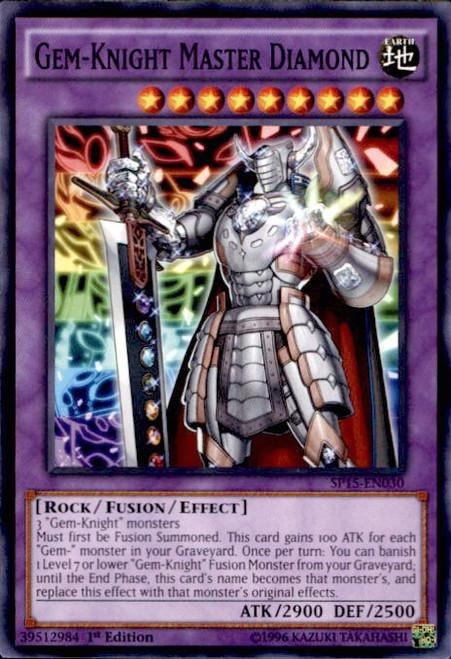 YuGiOh 2015 Star Pack ARC-V Common Gem-Knight Master Diamond SP15-EN030