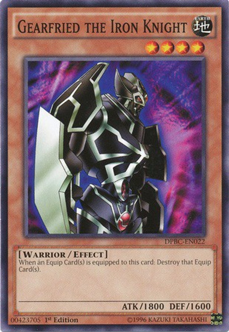 YuGiOh Duelist Pack Battle City Common Gearfired The Iron Knight DPBC-EN022