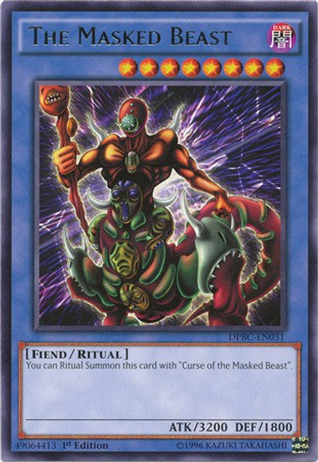 YuGiOh Duelist Pack Battle City Rare The Masked Beast DPBC-EN031