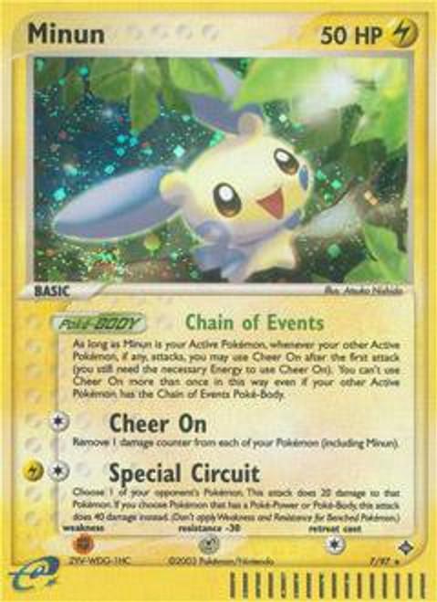 Pokemon Trading Card Game EX Dragon Rare Holo Minun #7