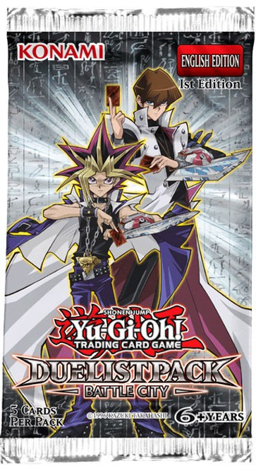 YuGiOh Trading Card Game Duelist Pack Battle City Booster Pack [5 Cards]