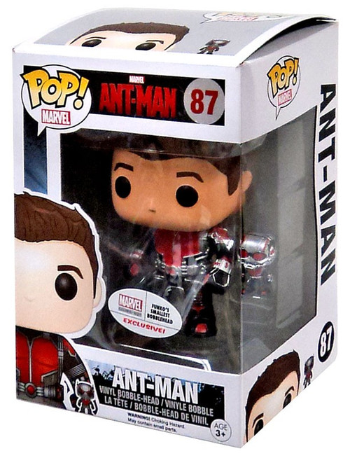 Funko Ant-Man POP! Marvel Ant Man {Unmasked} Exclusive Vinyl Figure #87 [Very Slightly Damaged Box, Mint Contents]