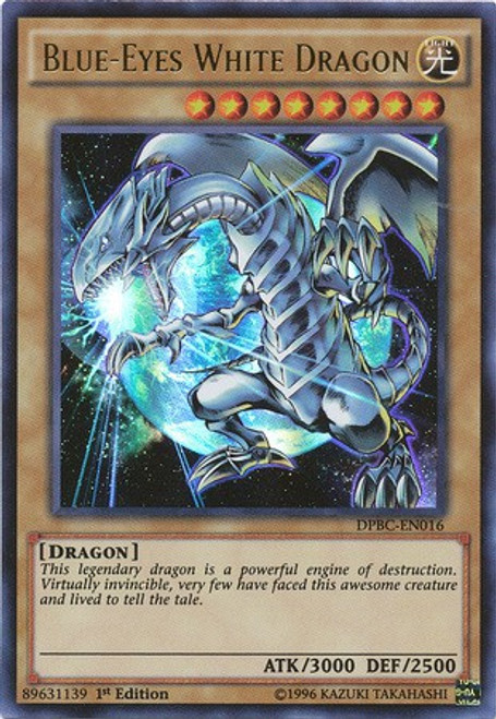 YuGiOh Duelist Pack Battle City Ultra Rare Blue-Eyes White Dragon DPBC-EN016