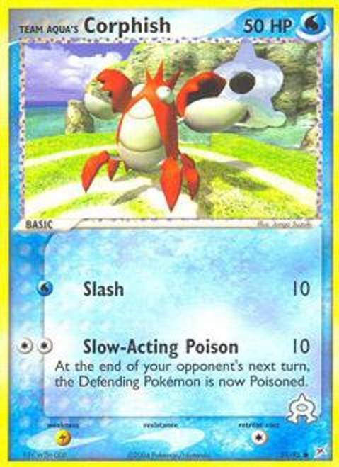 Pokemon EX Team Magma vs Team Aqua Common Team Aqua's Corphish #51