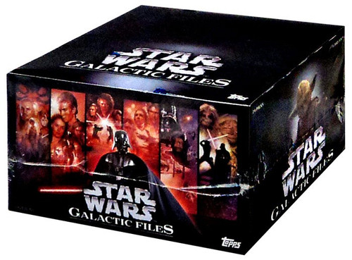 Star Wars Topps Galactic Files Series 1 Trading Card RETAIL Box [24 Packs]