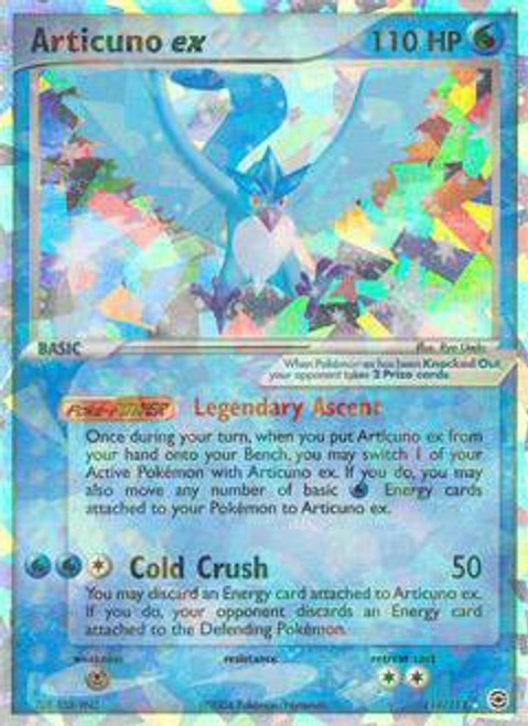 Pokemon Fire Red & Leaf Green Secret Rare Articuno ex #114