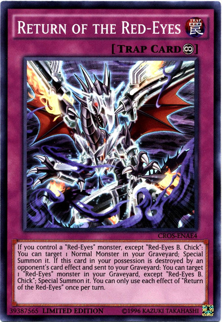 YuGiOh Crossed Souls Super Rare Return of the Red-Eyes CROS-ENAE4