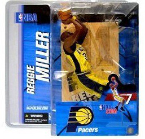 McFarlane Toys NBA Indiana Pacers Sports Picks Series 7 Reggie Miller Action Figure [Yellow Jersey Variant]