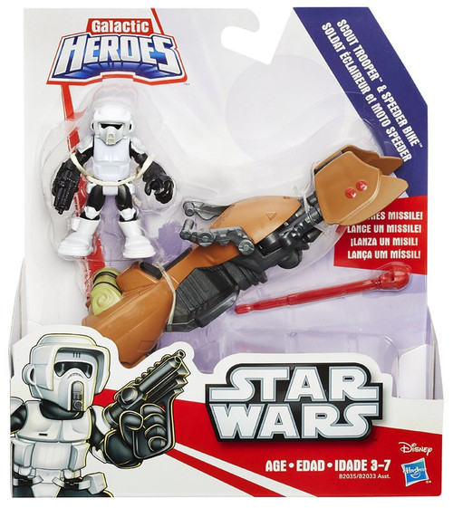 Star Wars Return of the Jedi Galactic Heroes Scout Trooper & Speeder Bike Mini Figure 2-Pack