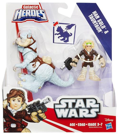 Star Wars Empire Strikes Back Galactic Heroes Han Solo & Tauntaun Mini Figure 2-Pack
