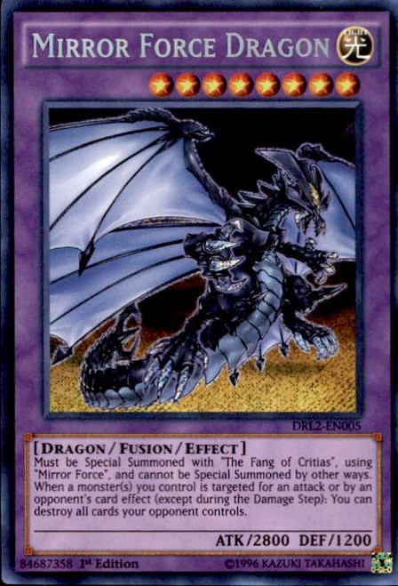 YuGiOh Dragons of Legend 2 Secret Rare Mirror Force Dragon DRL2-EN005