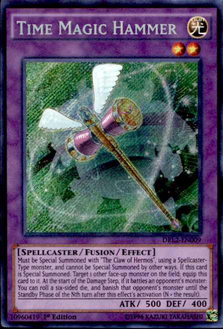 YuGiOh Dragons of Legend 2 Secret Rare Time Magic Hammer DRL2-EN009