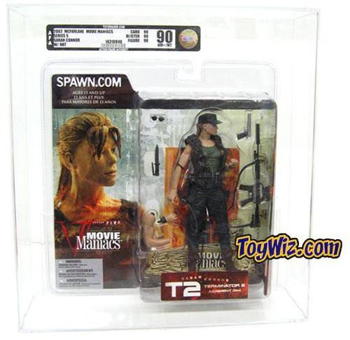 McFarlane Toys Terminator 2 Judgment Day Movie Maniacs Series 5 Sarah Connor Action Figure [AFA 90] [AFA Graded 90]