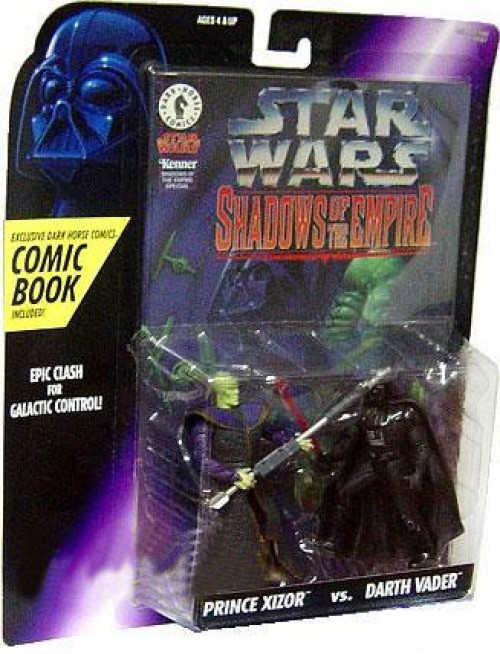 Star Wars Expanded Universe Power of the Force POTF2 Shadows of the Empire Prince Xizor vs. Darth Vader Action Figure
