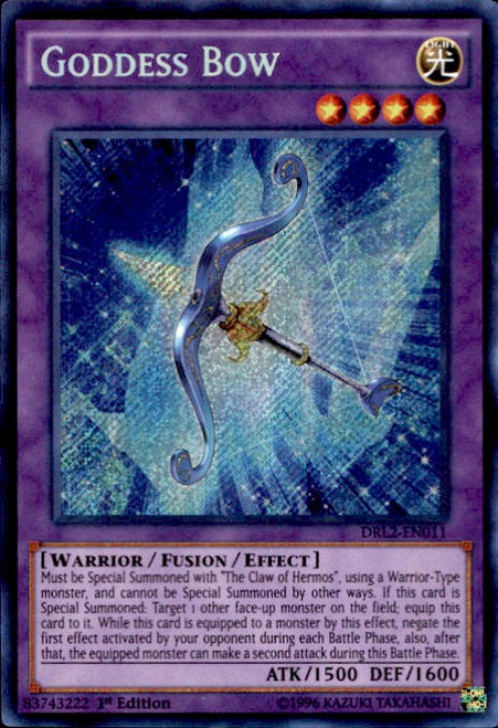 YuGiOh Dragons of Legend 2 Secret Rare Goddess Bow DRL2-EN011