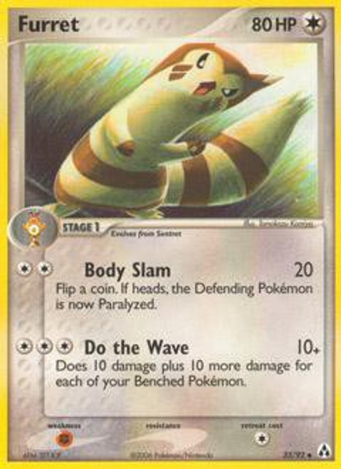 Pokemon EX Legend Maker Uncommon Furret #33